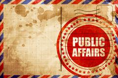 public affairs - stock illustration