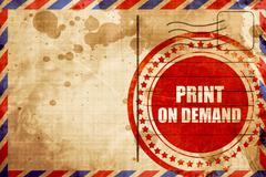 print on demand - stock illustration