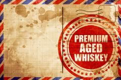 Premium aged whiskey Stock Illustration