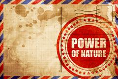 power of nature - stock illustration
