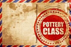 pottery class - stock illustration
