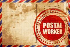 postal worker - stock illustration