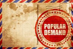 Popular demand Stock Illustration