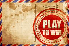 Play to win Stock Illustration