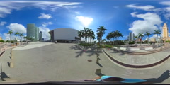 American Airlines Arena shot with a 360 video camera Stock Footage
