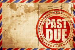 Past due Stock Illustration