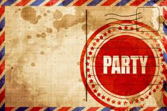 party - stock illustration