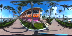 Bayside Marketplace 360 VR video Stock Footage