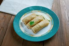 Baked  Chicken Taquitos Stock Photos