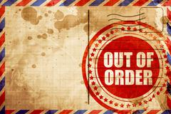 Out of order Stock Illustration