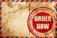 Order now sign - stock illustration