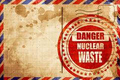 Nuclear danger background - stock illustration