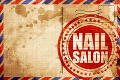 nail salon - stock illustration