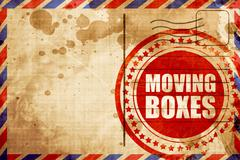 moving boxes - stock illustration