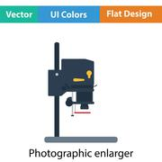 Icon of photo enlarger Stock Illustration