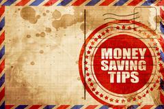 money saving tips - stock illustration