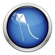 Kite in sky icon Stock Illustration