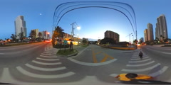 Shopping centers Sunny Isles Beach 360 spherical VR video Stock Footage