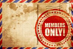 members only! - stock illustration