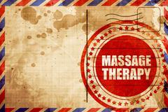massage therapy - stock illustration