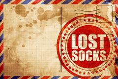 lost socks - stock illustration