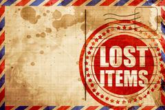 lost items - stock illustration