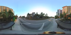 Sunny Isles Beach Florida 360 spherical video Stock Footage