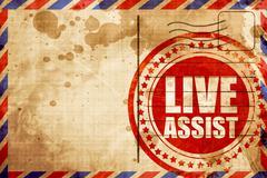 live assist - stock illustration