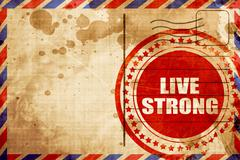 live strong - stock illustration