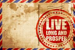 live long and prosper - stock illustration