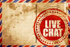 live chat - stock illustration