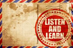listen and learn - stock illustration