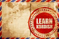 learn kurdish - stock illustration