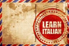 learn italian - stock illustration