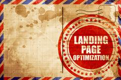 Landing page optimization Stock Illustration