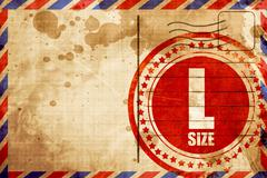L size Stock Illustration