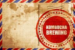 kombucha brewing - stock illustration