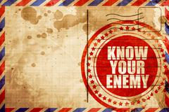 know your enemy - stock illustration