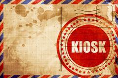kiosk - stock illustration