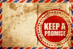 Keep a promise Stock Illustration