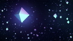 Relaxing background animation of a flight through platonic octahedrons. Stock Footage