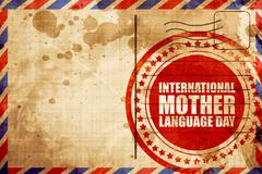 international mother language day - stock illustration