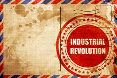 Industrial revolution background - stock illustration