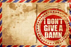 i don't give a damn - stock illustration