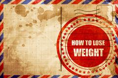 How to lose weight Stock Illustration