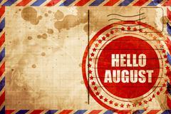 hello august - stock illustration