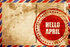Hello april Stock Illustration