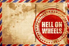 Hell on wheels Stock Illustration