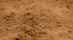 Brown Powder Rotating Stock Footage