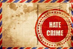 Hate crime background - stock illustration